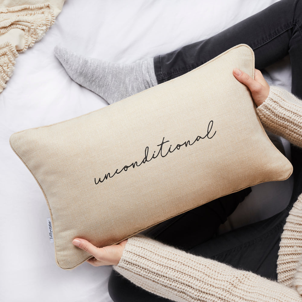 Unconditional linen cushion