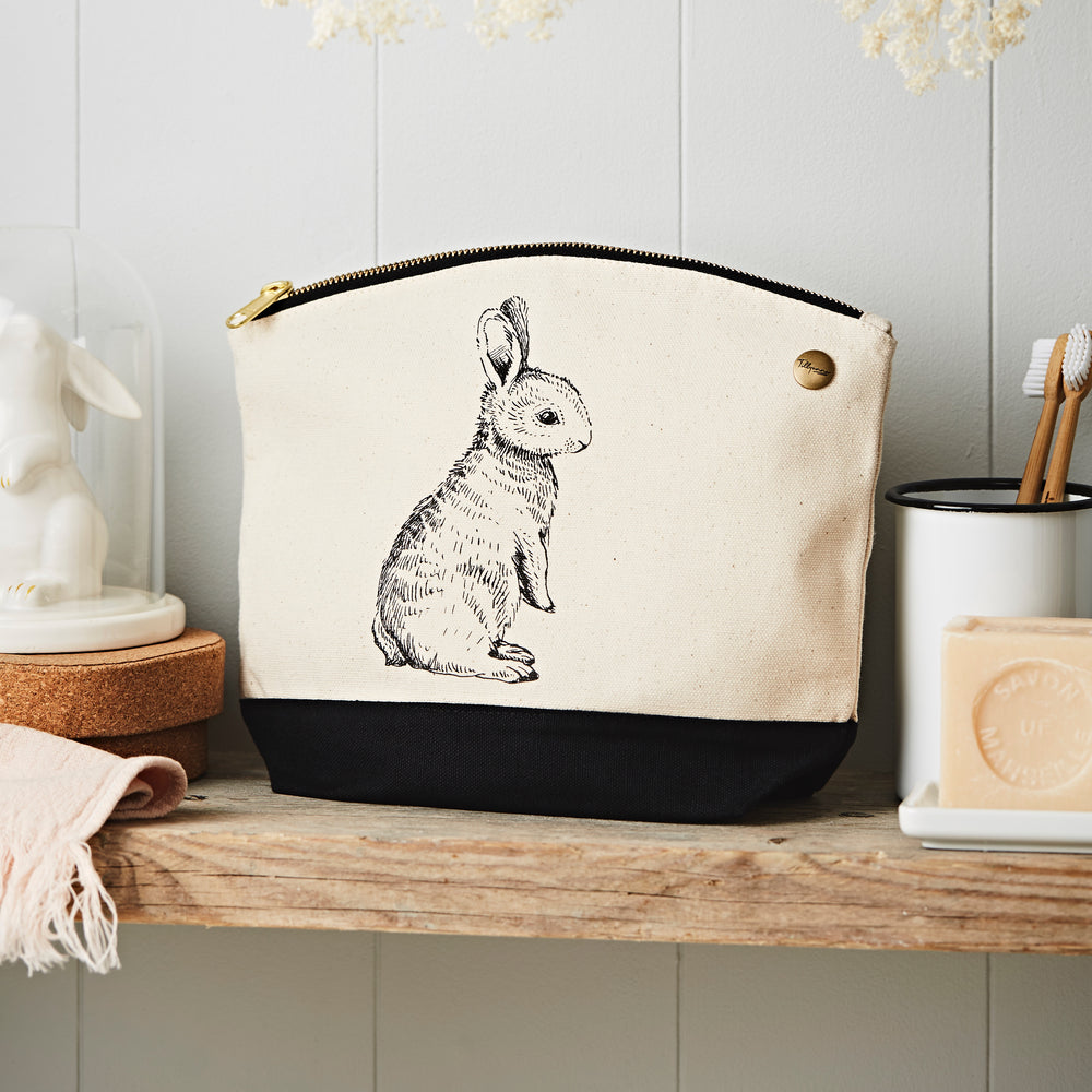 Rabbit Canvas Pouch