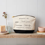 Personalised 'property of' canvas pouch