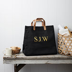 Personalised Monogrammed Jute Bag in Black - SS19