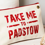 Take me to personalised canvas pouch