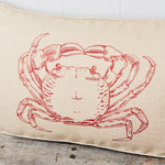 Crab linen boudoir cushion