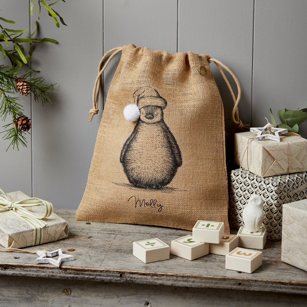 Personalised Penguin Christmas Sack