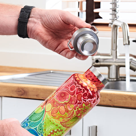 ReHydrate Pro steel reusable water bottle ideal to keep fruit infused water chilled