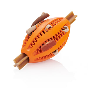 Dog Treat RUGBY Ball - Orange
