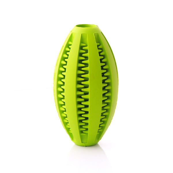 Dog Treat RUGBY Ball - Green