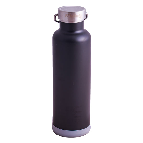 Rehydrate Pro (Black 25oz) Double-Insulated Stainless Steel Water Vacuum Bottle Flask