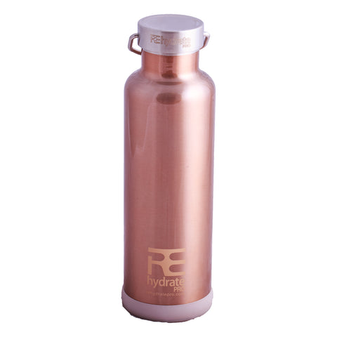 Rehydrate Pro (Copper-25oz) Double-insulated Stainless Steel Water Vacuum Bottle Flask