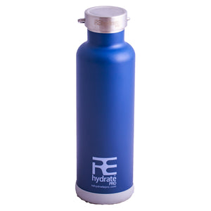Rehydrate Pro (Navy 25oz) Double-Insulated Stainless Steel Water Vacuum Bottle Flask
