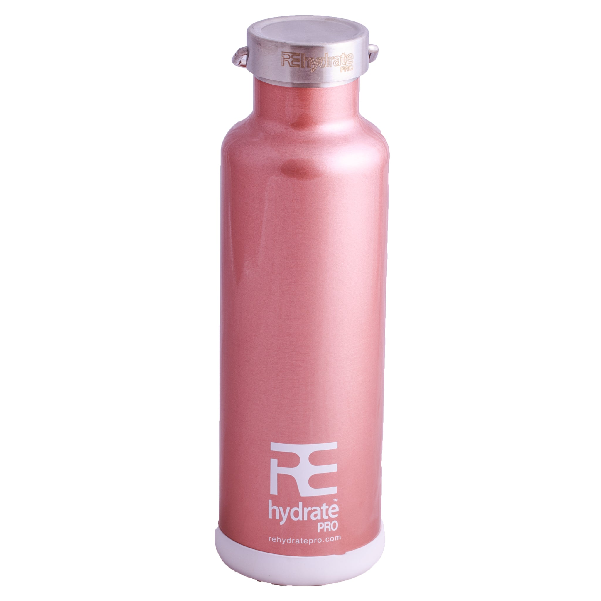 Rehydrate Pro (RoseGold 25oz) Double-Insulated Stainless Steel Water Vacuum Bottle Flask