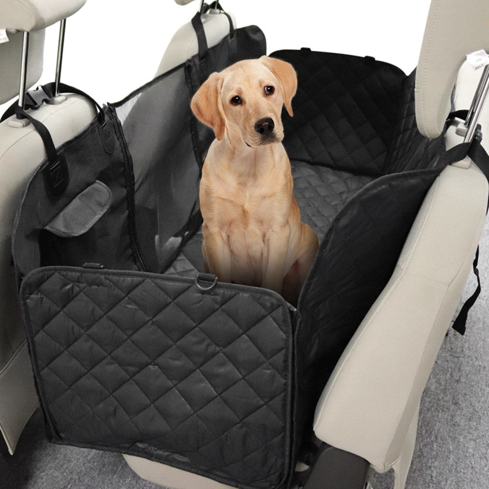 Car Back Seat Protector/Cover for Pets with Mesh Window - Water Resistant and Non-skid