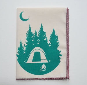 Organic Cotton Hanky Camping Tent Handkerchief Mens Hankie Wedding Favor Hankerchief