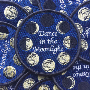 Embroidered Patch, Moon Patch, Iron On Patch, Sew on Patch, Circle Patch, Gift for Teenager, Dance Moonlight, Moon Phases, Solstice Patch