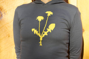 Women's Hoodie, Dandelion Flower, Nature Girl, Woodland, Outdoorsy Girl, Yellow Flower, Fall Clothing, Hiking Hoodie, Yoga Hoodie