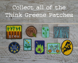 Fiddlehead, Mason Jar, Nature Patch, Outdoor Patch, Hiking Patch, Embroidered Patch, Wilderness Patch, Iron On Patch, Sew On Patch,