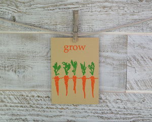 Encouragement Card, New Baby, Gardener Card, Blank Card, Recycled Paper, Compostable Plastic, Eco Friendly, New Mama Card