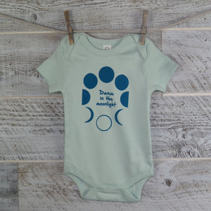 Moon Onesie, Short Sleeve, Organic Cotton, Organic Onesie, New Mom, Baby Shower, Body Suit, Boy Girl, Baby Gift, Onesie, Dance, Moon Cycle