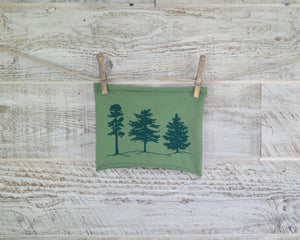 Pine Tree, Headband, Green, Yoga Band, Hiking Band, Wide Band, Jersey Cotton, Hiker, Nature Lover, Woodland, Forest, Appalachian Trail