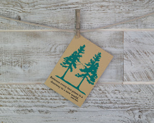 Two Pines John Muir Quote Wedding Blank Card Recycled Paper Compostable Plastic Environmentally Friendly