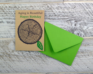 Birthday Card, Woodworker, Unique Birthday, Happy Birthday, Aging Beautiful, Blank Card, Recycled Paper, Compostable Plastic, EcoFriendly