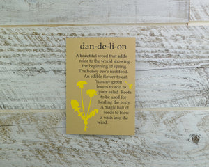 Dandelion, Spring Flower, Birthday Card, Forager, Blank Card, Recycled Paper, Honey Bee, Compostable Plastic, Eco Friendly