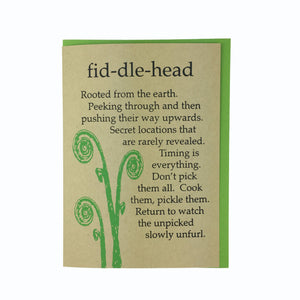 4 Pack, Blank Nature Cards, Echinacea, Fiddlehead, Dandelion, Elderberry, Recycled Paper, Compostable Plastic Eco Friendly