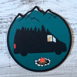 Van Life With dog Sticker
