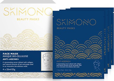 SKIMONO BEAUTY FACE MASK FOR ANTI-AGEING 4 X 25ML - perfumesbaratos.com