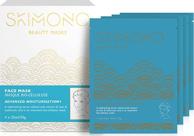 SKIMONO BEAUTY FACE MASK FOR ADVANCED MOISTURISATION 4 X 25ML - perfumesbaratos.com