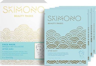 SKIMONO BEAUTY FACE MASK FOR AFTER SUN 4 X 25ML - perfumesbaratos.com