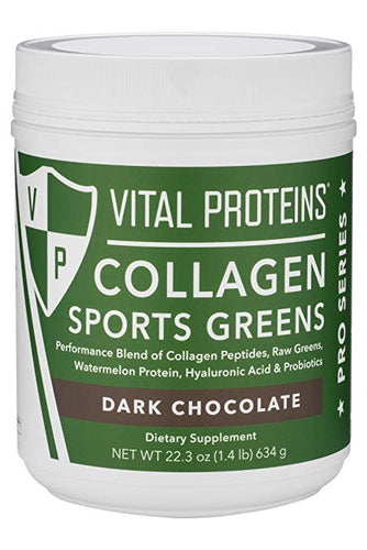 Collagen Sports Green Dark Chocolate - 22.3 Oz (634 g)