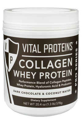 Collagen Whey Protein Dark Chocolate Coconut Water- 20.4 Oz (578 g)