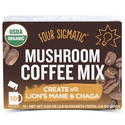 Mushroom Coffee Mix with Lion's Mane and Chaga - 10 Packets