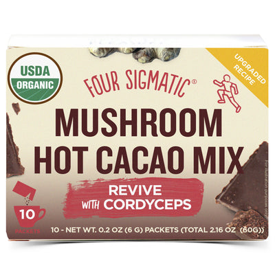 Mushroom Hot Cacao with Cordyceps - 10 Packets