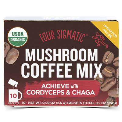 Mushroom Coffee with Cordyceps and Chaga - 10 Packets