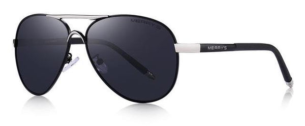 Merry's Men's Classic Pilot HD Polarized Aluminum Driving Sunglasses