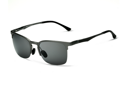 Pierce - Retro Aluminum Semi Rimless Sunglasses - SunShutterz