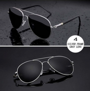Harrison - Metal-Frame Aviator Sunglasses - SunShutterz
