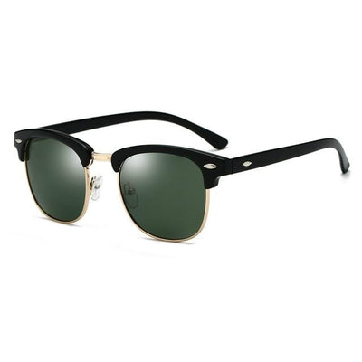 Denzel - Semi-Rimless Classic Polarized Sunglasses - SunShutterz