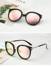 Walnut Shaped Frames Womens Oval Sunglasses - SunShutterz