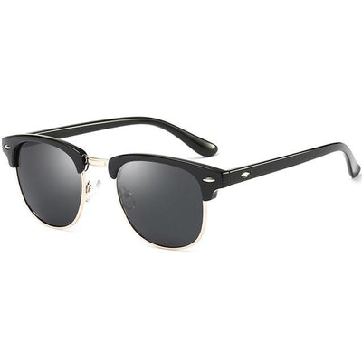 Dior - Retro Classic Metal Half Frame Horn Rimmed Sunglasses - SunShutterz