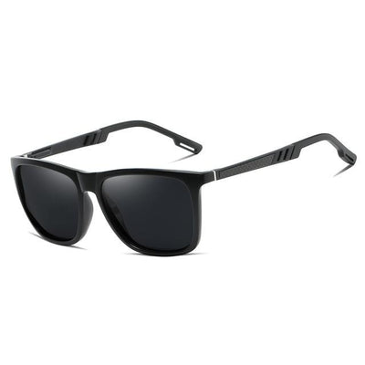Miles - Aluminum Square Polarized Sunglasses - SunShutterz