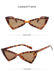 Chiara - Vintage Cat Eye Triangle Sunglasses - Sunglass Society