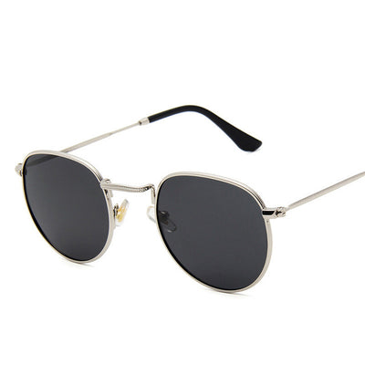 Yoovos - Polarized Vintage Mens Retro Round Sunglasses - SunShutterz