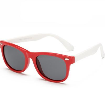 Flexible Polarized Kids' Red & White - SunShutterz