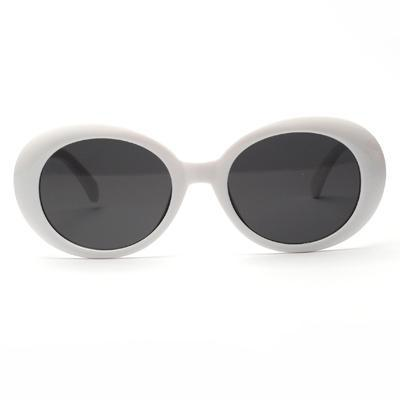 Brenna Vintage Oval White Sunglasses - SunShutterz