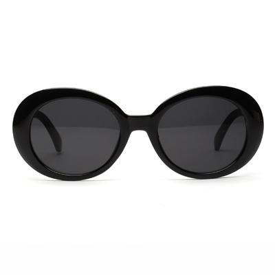Brenna Vintage Oval Black Sunglasses - SunShutterz