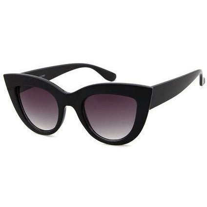 Elizabeth - Black & Grey Ultimate Cat-Eye Sunglasses - Sunglass Society