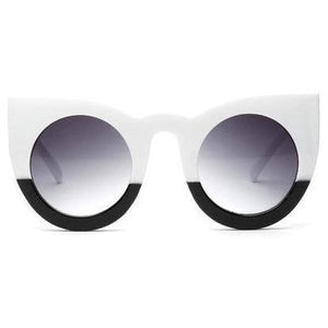 Vintage Cat Eye White & Black - SunShutterz