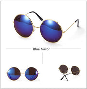 Devin  - Blue Retro Refelective Sunglasses - SunShutterz